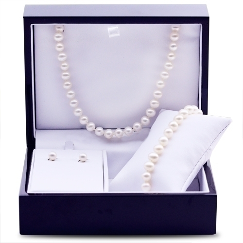 Pearl Necklace,Bracelet Earring Set by Imperial Pearls