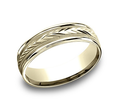 Engraved Gold Band by Benchmark