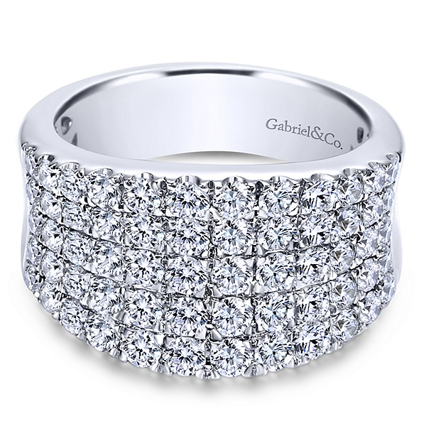 White 14 Karat With 1.98Tw Round G/H Si2 Diamonds