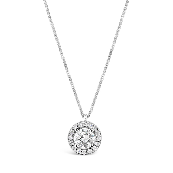 14K White Gold Length 18 With One 0.51Ct Round I Si1 Diamond And 16=0.13Tw Round I Si1 Diamonds